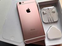 IPhone 6 16gb metallic rose gold and white ( o2 giff gaff )