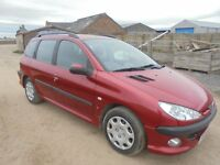 PEUGEOT 206 S ESTATE 1.4 DEISEL