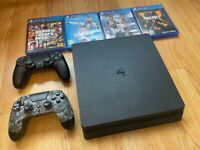 PS4 Slim 500gb 2 controllers, GTA V, CoD, UFC, FIFA Very Good with cables