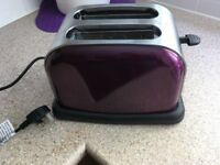 Purple toaster , as new , used once