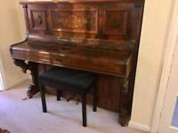 FREE!!! Beautiful old piano and modern piano stool