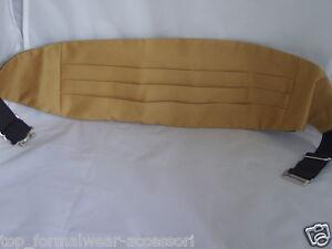 GOLD-Mens-Polyester-Cummerbund-The-More-Cummerbunds-U-Buy-More-U-Save-60-Colours