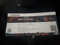YNOT Festival Ticket 27th - 29th