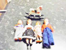 Dolls house accessories - Family and rocking horse