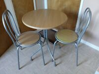 Kitchen or Dinning Room ,Bistro Table and Two Chairs
