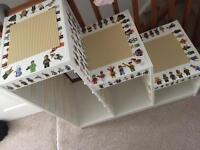 LEGO THEMED STORAGE UNIT PLAY TABLE