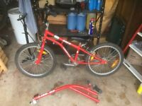 """BMX childs kids Emmelle Link up- 20"""" wheels converts to tagalong tag a long"""