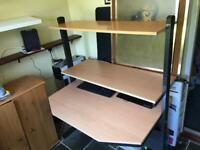 Computer Desk - Adjustable Height, 3 Tiers!