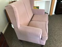 Winged back 2 seat sofa