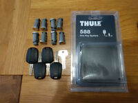 Thule 588 one-key system lock (set of 8 barrels and 4 identical keys)