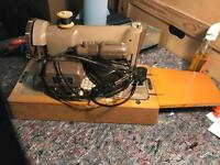 Vintage portable singer sewing machine