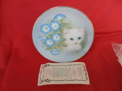 Hamilton Collection, Petal & Purrs Collectors Plate - Morning Glories