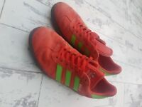 Rare Adidas Gazelle trainers size 9 Red and Green