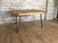 Coffee Table - Industrial hairpin legs