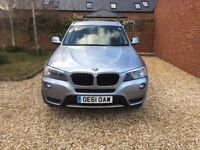 BMW X3, 2011 (61) Blue Estate, Automatic Diesel, 53,000 miles in Wantage