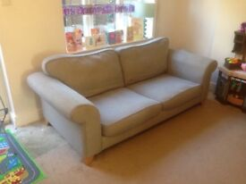 Two Large Three Seater DFS Sofas
