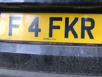 F 4 FKR personal plate £1750