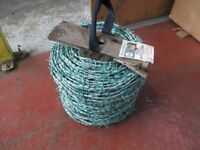 1 x 200m Coil - Rylock Green High Tensile Barbed Wire