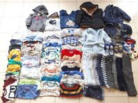 Bundle of baby boy/toddler clothes size 12-18 months (79pcs)