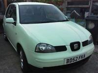 Seat Arose 1.0 L S, 2003, 60,000 miles, lady owner, excellent condition