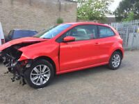 2015 VW POLO 1.2 AUTO DSG 12k miles Se Tsi S-A - spares or repairs Salvage Damaged repairable