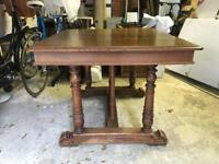 Lovely antique dining table - square - wooden