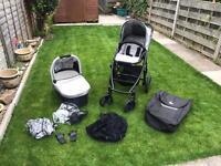 Uppababy vista 2013 silver push chair and carry cot