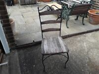 Wrought iron Patio dining chairs