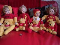 Porcelain winnie the pooh dolls