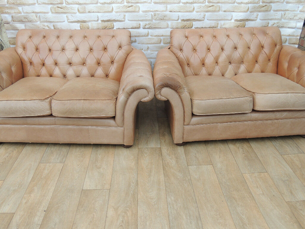 Chesterfield Sofas x 2 (Delivery)