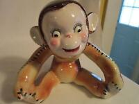 Vintage - Pottery - Cute Monkey Planter/Vase