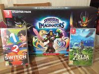 skylander pack / just dance game / zelda (Nintendo Switch) - brand new and sealed