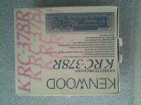 Kenwood KRC - 378R cd/radio player, + kenwood multi 6 cd changer KDC - C465