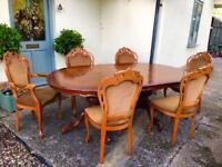 Walnut Dining table 6 chairs