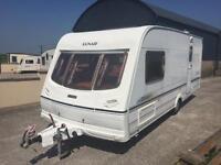 N.I caravans special 2 berth lunar delta (motor mover and awning)