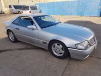 1991 MERCEDES 300SL-24 AUTO SILVER CONVERTIBLE WITH HARD TOP PRIVATE PLATE