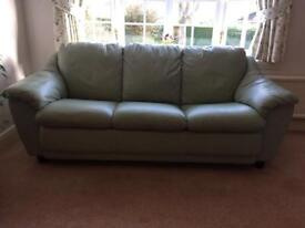 Leather sofas - 3 seater and 2 single chairs
