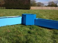 Commercial Flower Planters Troughs Hexagon Spacious Great Display Focal Point Retro Modern Different