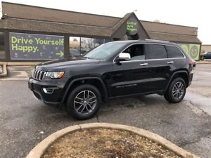 2018 Jeep Grand Cherokee Limited / 4x4 / SUNROOF / LEATHER/ REMO