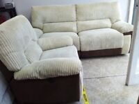 Newe lazy boy cream electric recliner sofas set d