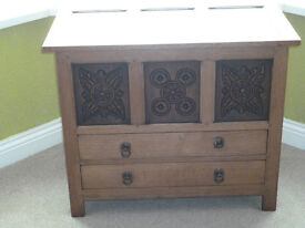 Lovely c.1930 Oak blanket box with two drawers.
