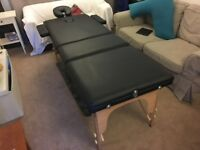 Massage Imperial Lightweight Black 3-Section Portable Massage Table and Tahiti Wheeled Carry Case
