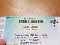 2 x Justin Bieber tickets £100 (BST Hyde Park)