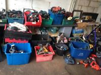 Hundreds battery drills Dewalt Bosch makita Ect suit export tools