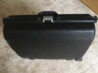 Samsonite hard black suitcase with 3 lock