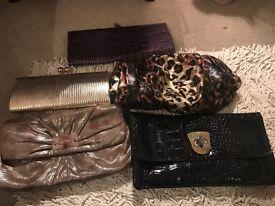 5 ladies clutch bags