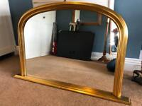 Wooden gilted mirror