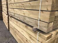 🌹New Pressure Treated Wooden Railway Sleepers