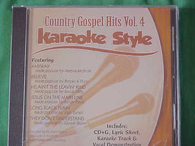 Country Gospel  Volume #4  Christian  Daywind  Karaoke Style  CD+G  Karaoke  NEW