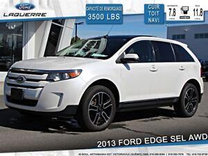 2013 Ford Edge SEL**AWD*CUIR*TOIT*NAVI* CAMERA*A/C 2 ZONES**